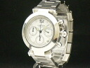 Cartier - CARTIER - pasha chronograph SS case /SS breath white face automatic men's lady's 05P20Apr12