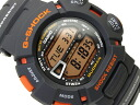 Imports overseas model G shock digital watch grey Orange liquid urethane belt g-9000MX-8