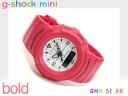 Casio G-Shock mini-reimportation foreign countries model white dial digital watch salmon pink urethane belt GMN-51-4B fs3gm