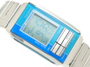 Overseas model Casio Futurist ladies digital watch light blue / green combination color light blue dial-la-201W-2 A 2
