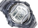 Casio baby G overseas monopoly model ladies Digital Watch Silver Dial Skelton grey polyurethane belts BG-169R-8
