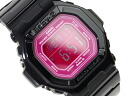 Casio baby G overseas model digital watches Candy Colors キャンディカラーズ pink dial black polyurethane enamel BG-5601-1