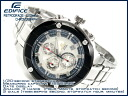 CASIO EDIFICEカシオ 海外Model エディフィス men'sChroographWrist watch IPBlackBezel SilverDial Stainless steelBelt EFX-500D-7A