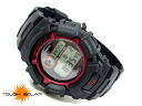 Casio overseas model G shock solar digital watch レッドメタルベゼル urethane belt g-2300F-4