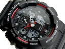 Casio reimport foreign model G-shock an analog-digital watch black / red-1A4 urethane belt