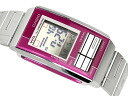 + Overseas model Casio Futurist ladies digital watch wine x ピンクコンビ color mirror dial-LA-201WD-4A