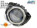 + Casio overseas model Pathfinder triple sensor with digital watch black urethane belt PAW-2000-1