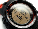 CASIO PRO TREK PROTREK Casio protrek imports overseas model triple sensor equipped with radio solar digital watch black orange PRW-3000-4DR PRW-3000-4