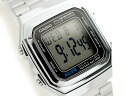 + Standard model digital Unisex Watch Silver A 178WA-1
