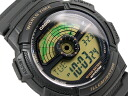 CASIO WORLD TRAVELER Casio world traveler digital watch imports overseas model gold black AE-1100W-1B AE-1100W-1