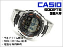 CASIO Casio reimport foreign model SPORTS GEAR sports gear mens digital watch black / orange stainless steel belt AE-2000WD-1AVDF