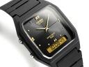 + An analog-digital watch Unisex Black x Gold Dial-urethane belt AW-48HE-1AV
