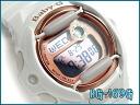 Casio baby G overseas imports model pink series digital ladies watch white / pink BG-169G-7DR