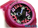 CASIO BABY-G Casio baby G ベビージー reimportation foreign countries model Jelly Marine Series Jerry Malin シリーズアナデジ watch black pink skeleton BGA-131-4B4CR BGA-131-4B4