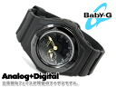 + CASIO Casio baby G baby-g 3D face an analog-digital watch black BGA-141-1BDR BGA-141-1B
