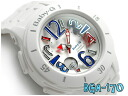 Pat Casio baby G lady's a; diwatch Neon Marine Series white blue red BGA-170-7B2DR fs3gm