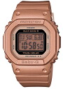 Model electric wave solar radio time signal digital lady's watch pink gold BGD-5020-4JR of the 20th anniversary of CASIO BABY-G Casio baby G