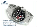 + Casio overseas model edifice analog Multifunction mens watch tiles black x silver EF-336D-1AVDF