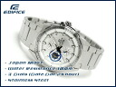 Overseas model Casio edifice analog Multifunction mens watch tiles White x silver EF-336D-7AVDF