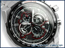 Casio overseas model edifice analog chronograph men's Watch Black x red stainless steel belt EF-554D-1AVDF