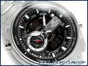 カシオエディフィスアナデジクロノグラフメンズ watch black silver stainless steel belt EFA-133D-1AVDF fs04gm