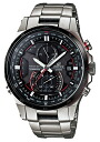カシオエディフィス CASIO EDIFICE electric wave solar radio time signal men watch black silver EQW-A1200DB-1AJF