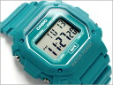 Reimport foreign model standard digital Unisex Watch emerald blue urethane belt f-108WH-3 A2CF