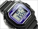 Reimportation foreign countries model standard digital unisex watch black X purple urethane belt F-108WHC-1BEF fs3gm