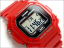 Reimport foreign model standard digital Unisex Watch Red × Black urethane belt F-108WHC-4AEF