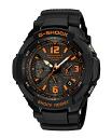 Casio G ショックジーショックスカイコックピット electric wave ソーラーアナデジ watch black orange GW-3000BD-1AJF fs3gm