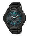Casio G ショックジーショックスカイコックピット electric wave ソーラーアナデジ watch black blue GW-3000BD-1AJF fs3gm