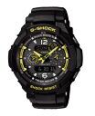Casio G ショックジーショックスカイコックピット electric wave ソーラーアナデジ watch black yellow GW-3500B-1AJF fs3gm