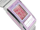 + Casio Futurist ladies digital watch Pink Silver la-201W-4 A3DF