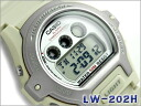 Reimportation foreign countries model unisex digital watch lam silver bezel ivory urethane belt LW-202H-8AVDF fs3gm
