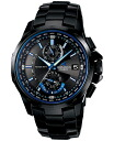 + Oceanus OCEANUS CASIO Casio wave solar analog watch blue black OCW-T1000B-1AJF domestic genuine