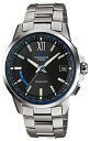 Casio Oceanus CASIO OCEANUS radio solar chronograph wave watch mens Watch Black Silver OCW-T150-1AJF