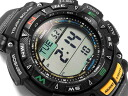 CASIO PATHFINDER Casio Pathfinder (North American Edition PRO TREK protrek) reverse overseas model triple sensor with solar digital black green PAG-240-1CR PAG-240-1