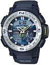 Casio protrek CASIO PRO TREK PROTREK mens an analog-digital Watch Silver Navy PRG-280-2JF