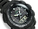 + Casio overseas model protrek triple sensor with solar an analog-digital watch black stainless steel belt PRG-550BD-1DR