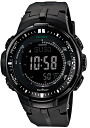 Casio proto Lec CASIO PRO TREK electric wave solar radio time signal watch men's digital tough solar PRW-3000-1AJF