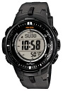 Casio proto Lec CASIO PRO TREK electric wave solar radio time signal watch men's digital tough solar PRW-3000-1JF