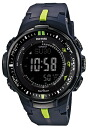 Casio proto Lec CASIO PRO TREK electric wave solar radio time signal watch men's digital tough solar PRW-3000-2JF