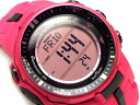 CASIO PRO TREK PROTREK Casio protrek imports overseas model triple sensor with radio solar digital watch pink PRW-3000-4BCR PRW-3000-4B