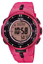 Casio protrek CASIO PRO TREK PROTREK radio solar radio watch men's digital watch pink PRW-3000-4BJF