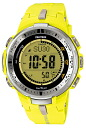 Casio protrek CASIO PRO TREK PROTREK radio solar radio watch men's digital watch yellow PRW-3000-9BJF