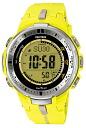 Casio protrek CASIO PRO TREK PROTREK radio solar radio watch men's digital watch yellow PRW-3000-9BJF