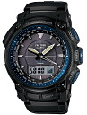 Pat Casio proto Lec CASIO PRO TREK electric wave solar radio time signal watch men's a; the tough solar PRW-5050BN-1JF