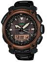 Casio proto Lec CASIO PRO TREK electric wave solar radio time signal watch メンズブラックチタンリミテッドアナデジタフソーラー PRW-5050YT-5JF
