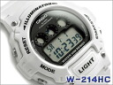 + Imports overseas model unisex digital watch White x black urethane belt W-214HC-7AVDF