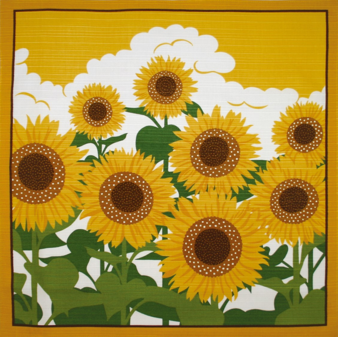 日式抽象花画贴图